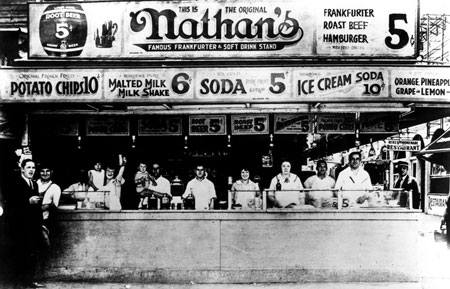 First Coney Island Hot Dog Stand